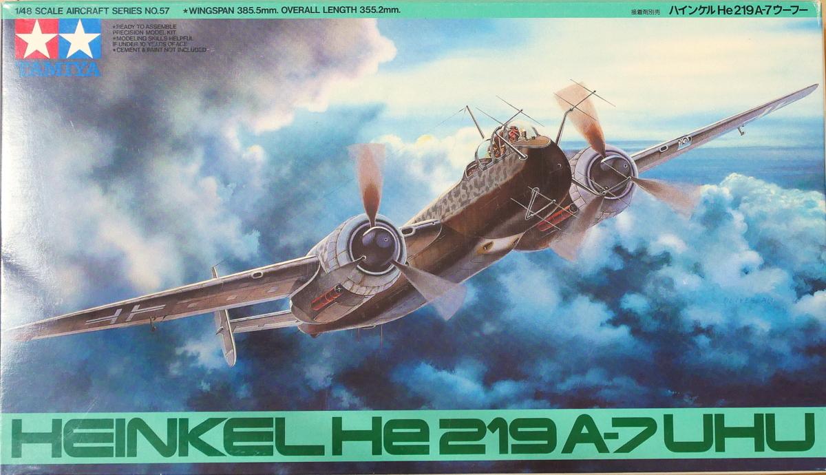 HEINKEL HE219 A-7 UHU TAMIYA 1/48 MAKING