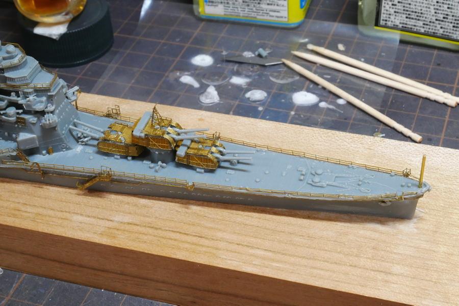 HEAVY CRUISER CHOKAI 1942 IMPERIAL JAPANESE NAVY FUJIMI 1/700 MAKING