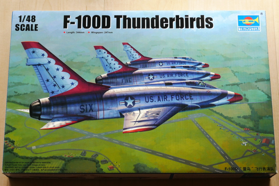 F-100D SUPER SABRE THUNDERBIRDS TRUMPETER 1/48 BOX PACKAGE