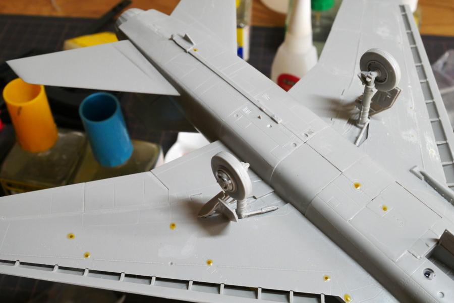 F-100D SUPER SABRE THUNDERBIRDS TRUMPETER 1/48 MAKING