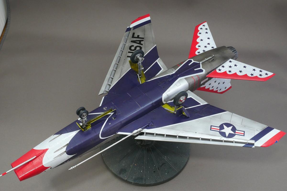 F-100D SUPER SABRE THUNDERBIRDS TRUMPETER 1/48 FINISHED WORK
