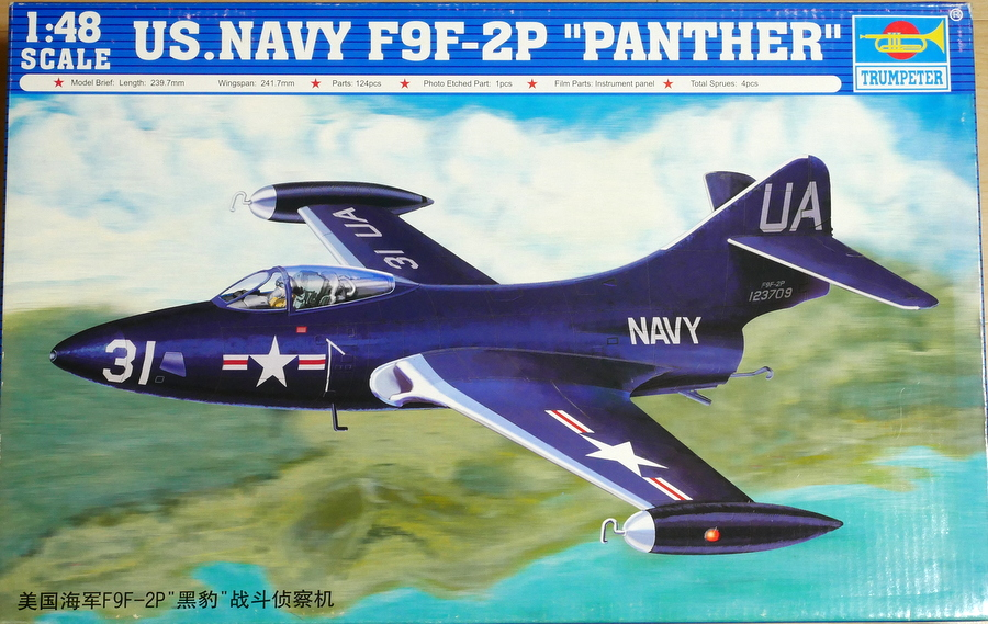 GRUMMAN F9F-2P PANTHER RECONNAISSANCE TRUMPETER 1/48 MAKING