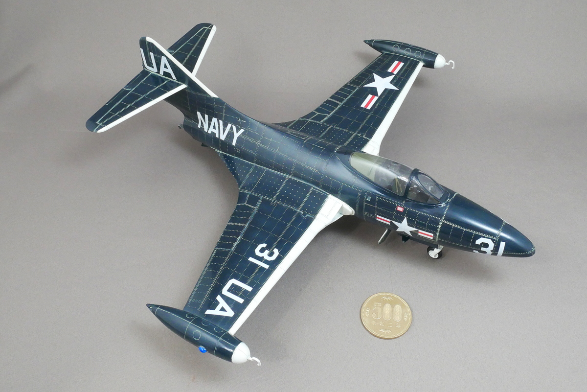GRUMMAN F9F-2P PANTHER RECONNAISSANCE TRUMPETER 1/48 FINISHED WORK