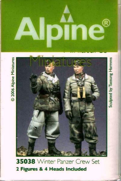GERMAN WINTER PANZER CREW SET ALPINE 1/35 MAKING