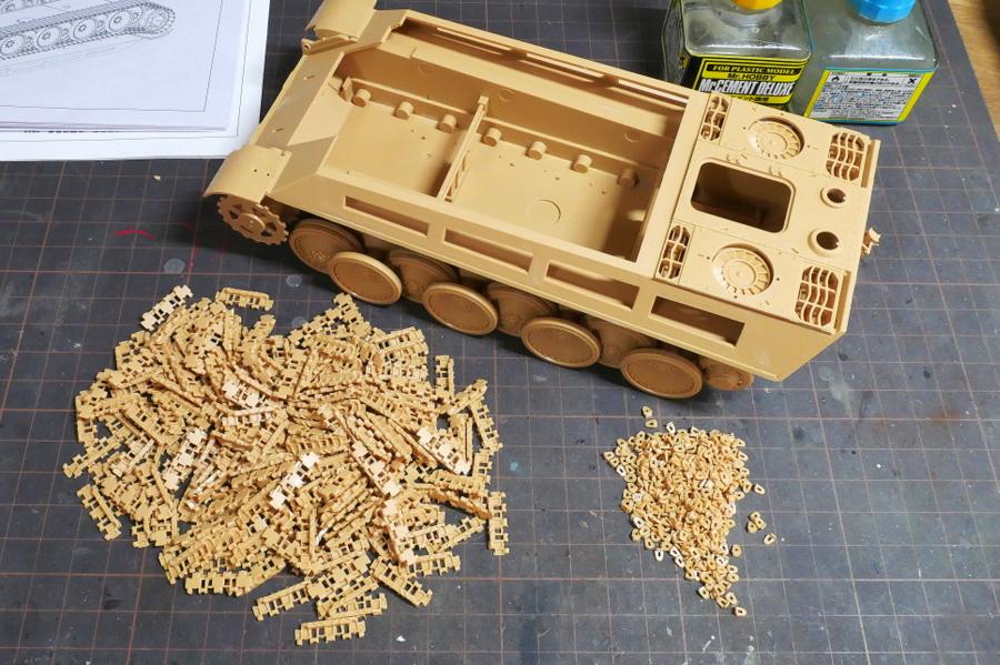 JAGDPANTHER Ausf.G1 Sd.Kfz.173 MENG MODEL 1/35 MAKING