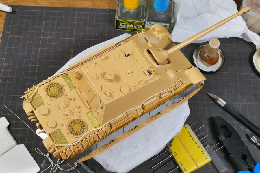 JAGDPANTHER Ausf.G1 Sd.Kfz.173 MENG MODEL 1/35 PAINTING