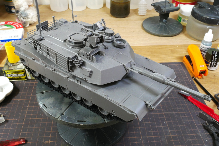 M1A2 SEP V2 ABRAMS VOIIO 1/35 MAKING
