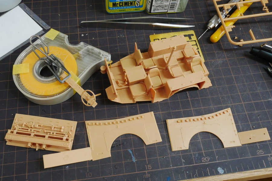 U.S. M3A1 WHITE SCOUT CAR EARLY PRODUCTION HOBBY BOSS 1/35 MAKING