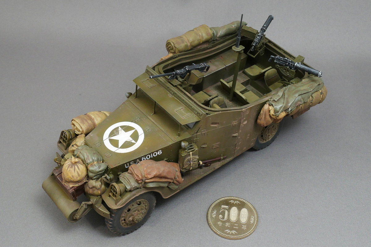 U.S. M3A1 WHITE SCOUT CAR EARLY PRODUCTION HOBBY BOSS 1/35 FINISHED WORK