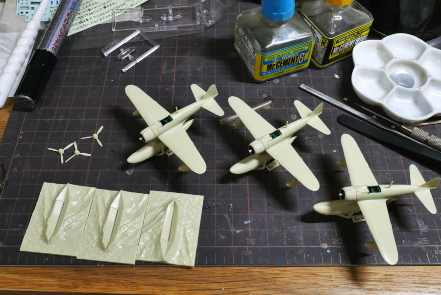 NAKAJIMA A6M2-N Type 2 FLOAT-PLANE FIGHTER IMPERIAL JAPANESE NAVY SWEET 1/144 PAINTING