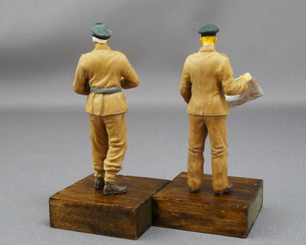 WWII Rommel & Staff Deutsches Afrikakorps North Africa 1942 Dragon 1/35 Finished Work
