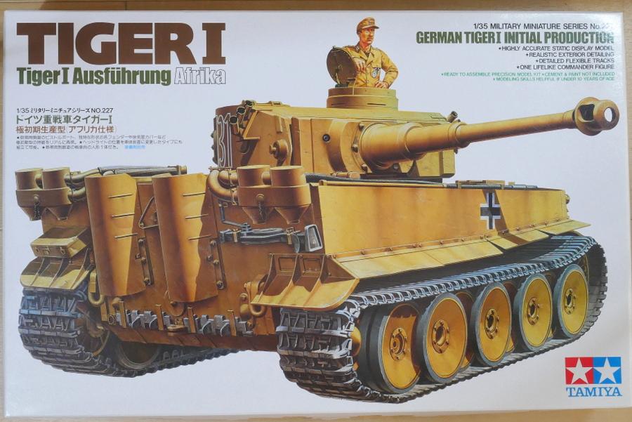 GERMAN TIGER I INITIAL PRODUCTION AFRIKA TAMIYA 1/35 MAKING