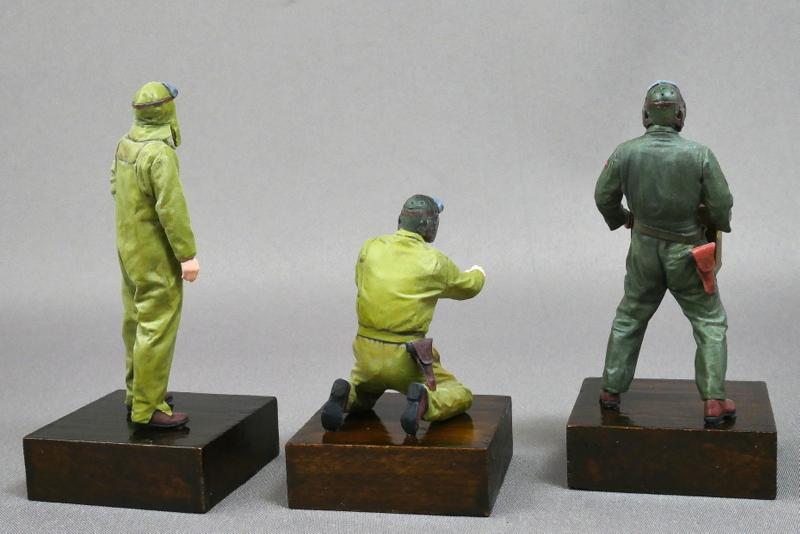 U.S. TANK CREW SET EUROPEAN THEATER TAMIYA 1/35 FINISHED WORK