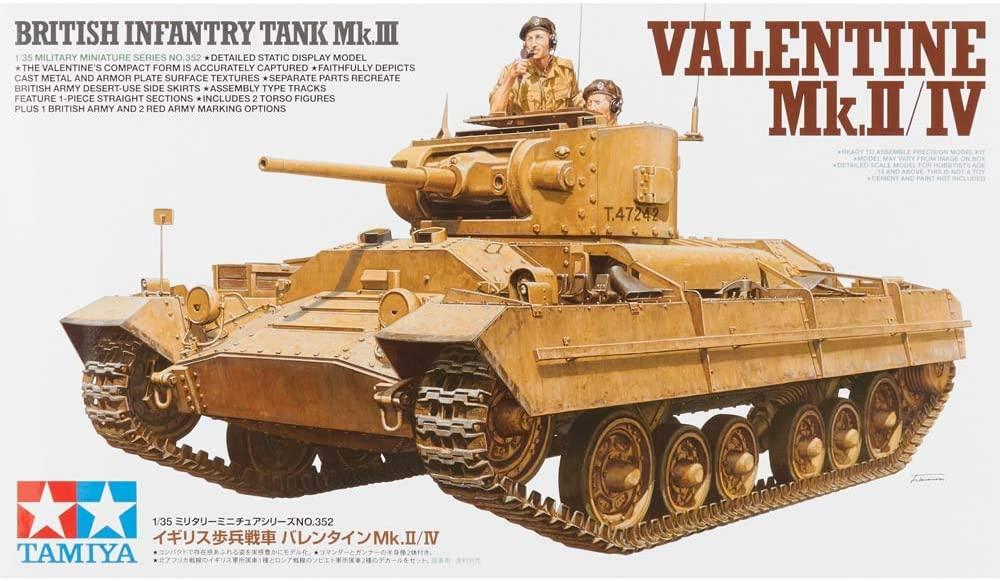 VALENTINE Mk.II/IV BRITISH INFANTRY TANK TAMIYA 1/35