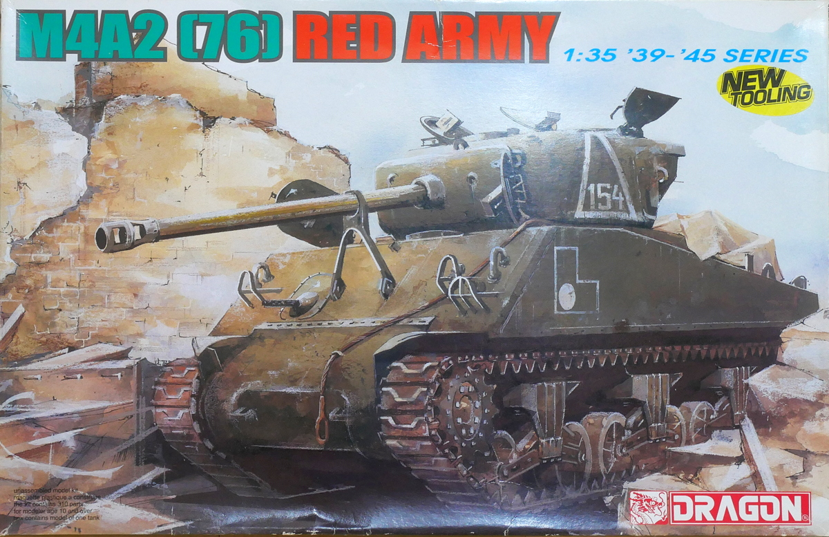 SHERMAN TANK M4A2 (76) RED ARMY DRAGON 1/35 BOX PACKAGE