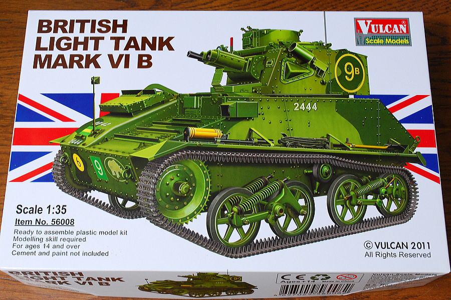 MARK VI B VULCAN SCALE MODELS 1/35 BOX PACKAGE