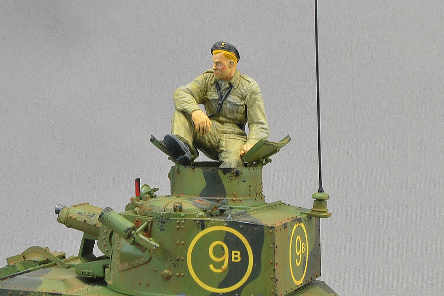 MARK VI B VULCAN SCALE MODELS 1/35 FINISHED PHOTO BRITISH TANK CREW