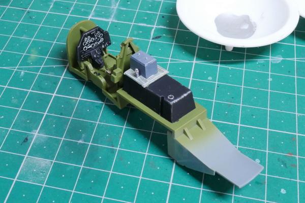 North American RAF Mustang III cockpit Tamiya 1/48 Building