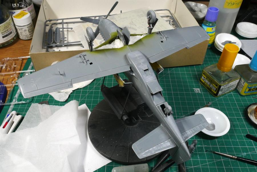 North American RAF Mustang III Tamiya 1/48 painting
