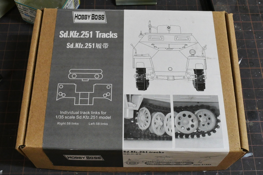 Sd. Kfz. 251 TRACKS HOBBY BOSS 1/35 MAKING