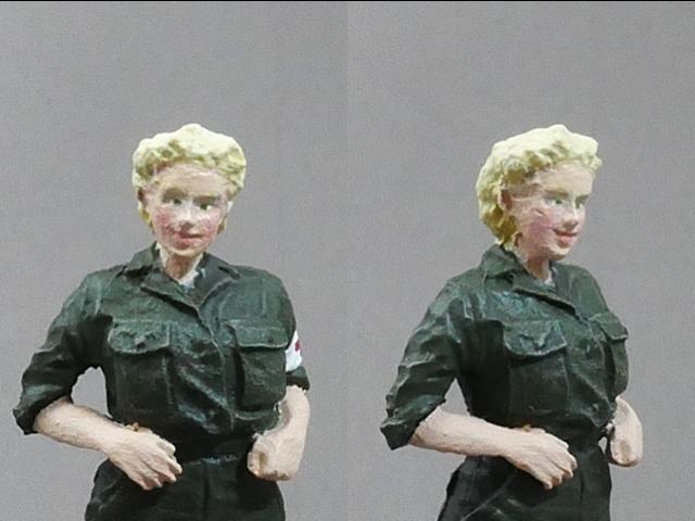U.S. Army Female Soldier Figures Medic and Nurse 1/35