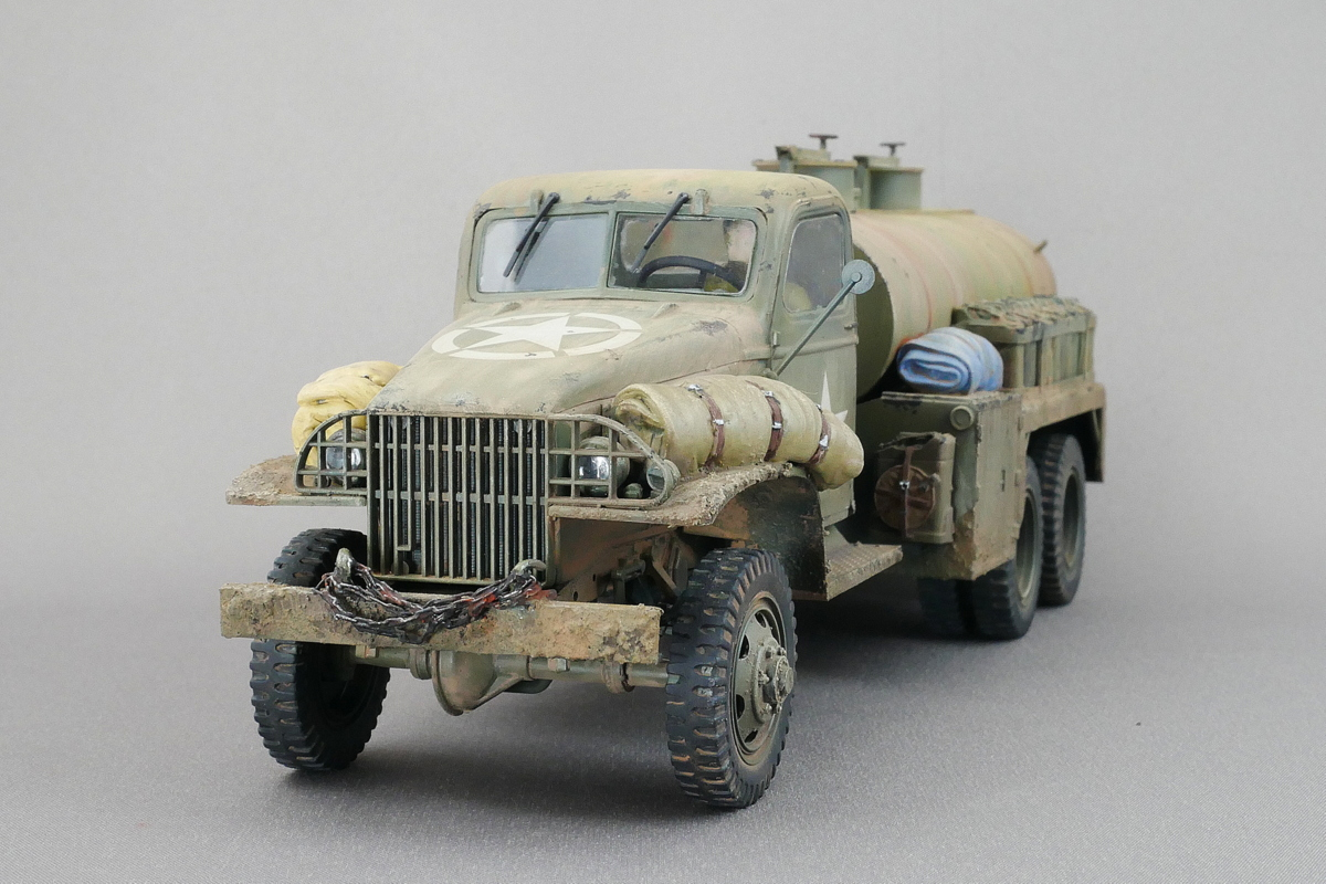 US Army Water Tank Truck Italeri 1/35 Finished Work