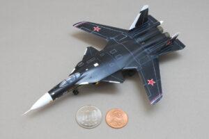 スホーイ S-37 (Su-47) ベルクト レベル 1/144 完成写真