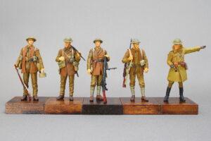 イギリス軍歩兵部隊5体 ソンム戦 1916年 WW-I マスターボックス 1/35 完成写真