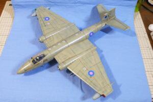 キャンベラ PR.9 エアフィックス 1/48 完成写真 偵察機型の機体