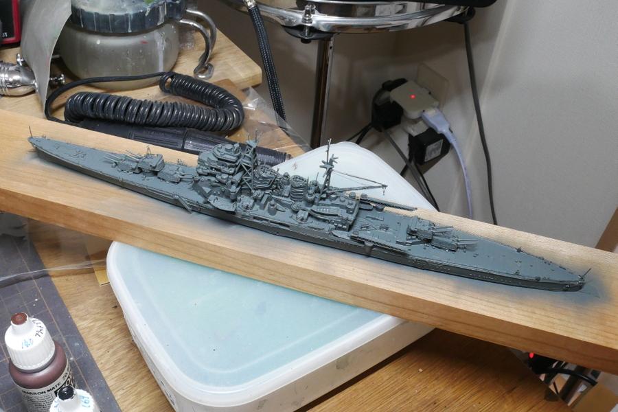 重巡洋艦 鳥海 1942 大日本帝国海軍 フジミ 1/700 塗装