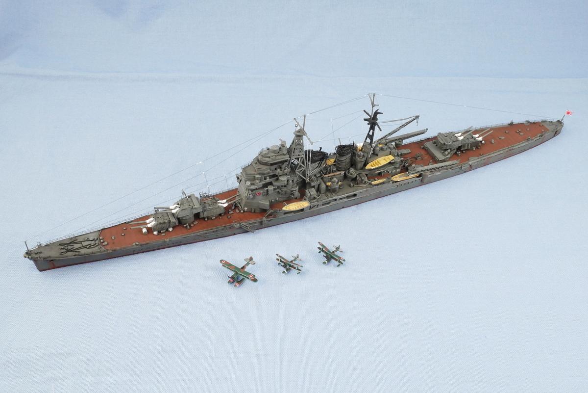 重巡洋艦 鳥海 1942 大日本帝国海軍 フジミ 1/700 完成写真