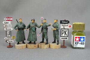 ドイツ軍野戦憲兵フィギュアセット ドラゴン 1/35 完成写真