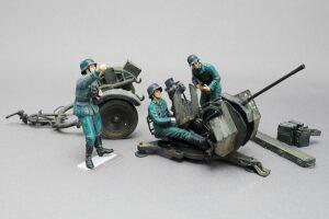 ドイツ軍対空機関砲フィギュアセット トライスター 1/35 組立と塗装・製作記・完成写真
