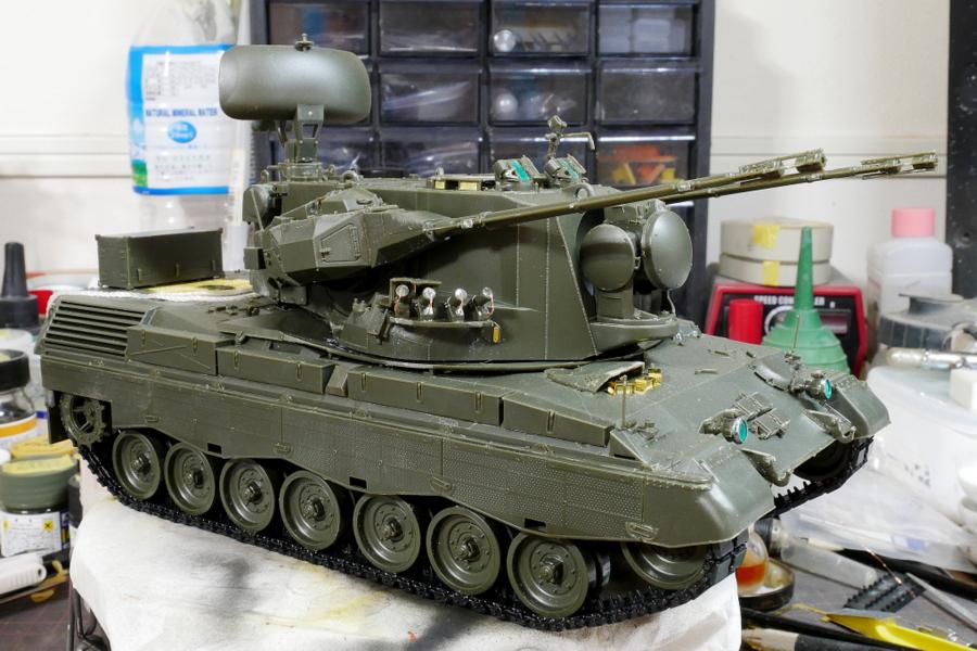 ドイツ連邦軍 ゲパルト自走対空砲 A1/A2 メンモデル 1/35 塗装