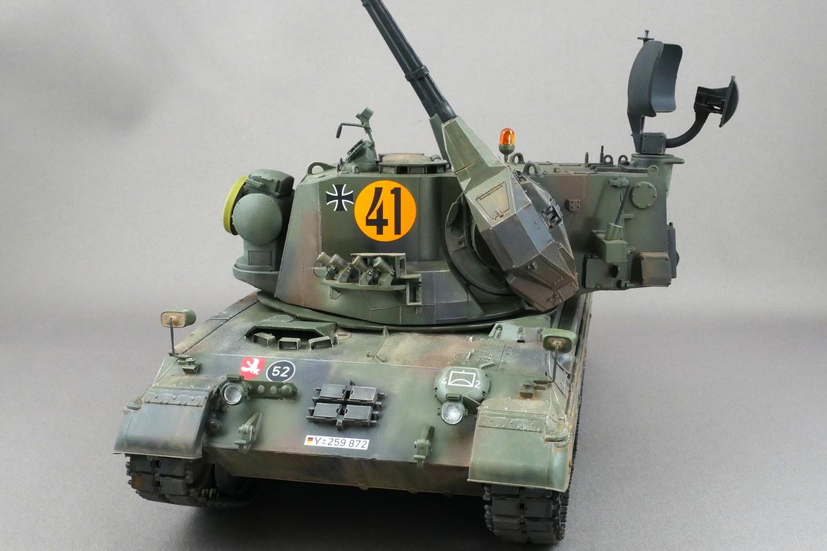 ドイツ連邦軍 ゲパルト自走対空砲 A1/A2 メンモデル 1/35 完成写真