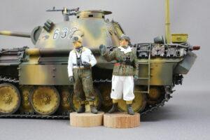 ドイツ戦車兵セット 冬服 アルパイン 1/35 完成写真