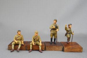 帝国陸軍戦車兵セット2 ファインモールド 1/35 完成写真