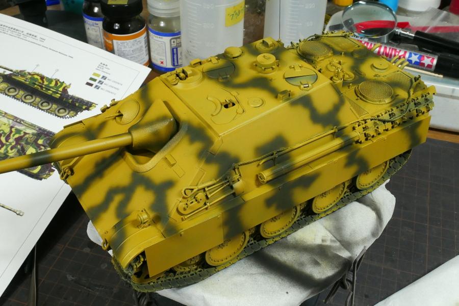ヤークトパンター G1型 Sd.Kfz.173 メンモデル 1/35 塗装