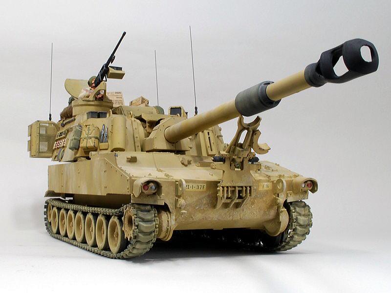 M109A6 パラディン イタレリ 1/35 砲身の一部が黒く塗装