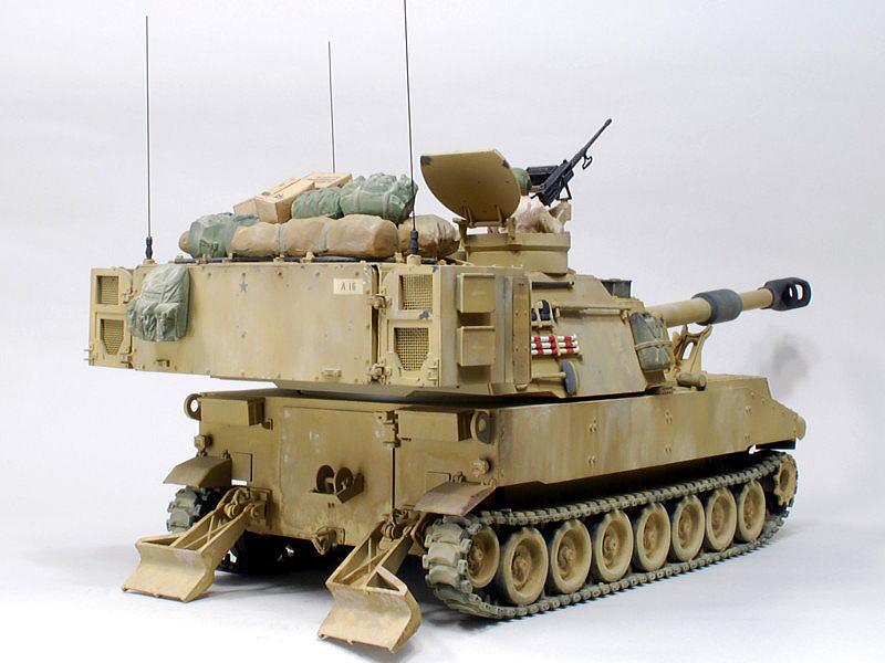 M109A6 パラディン イタレリ 1/35 砲撃時の滑り止め