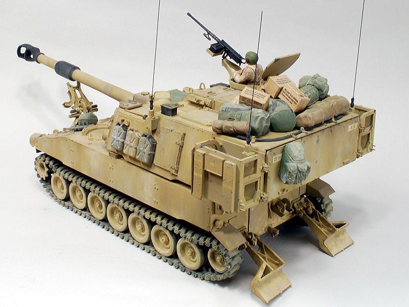 M109A6 パラディン イタレリ 1/35 車体下部と同等のボリュームの砲塔