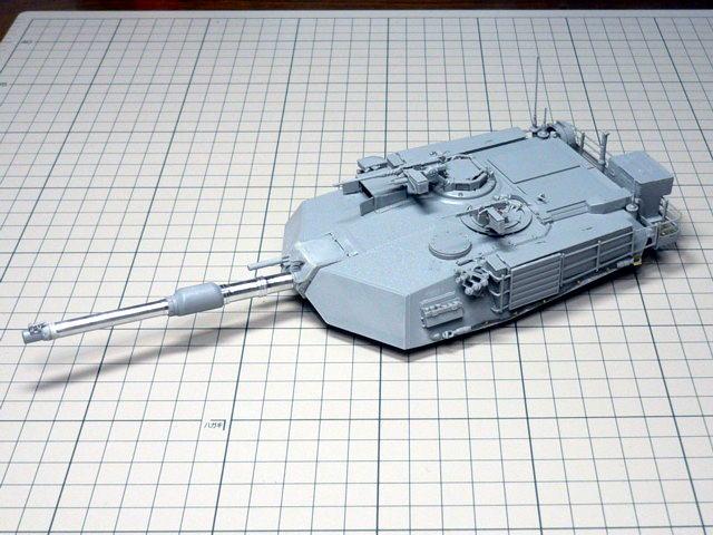 M1A1エイブラムス AIM ドラゴン 砲塔組立