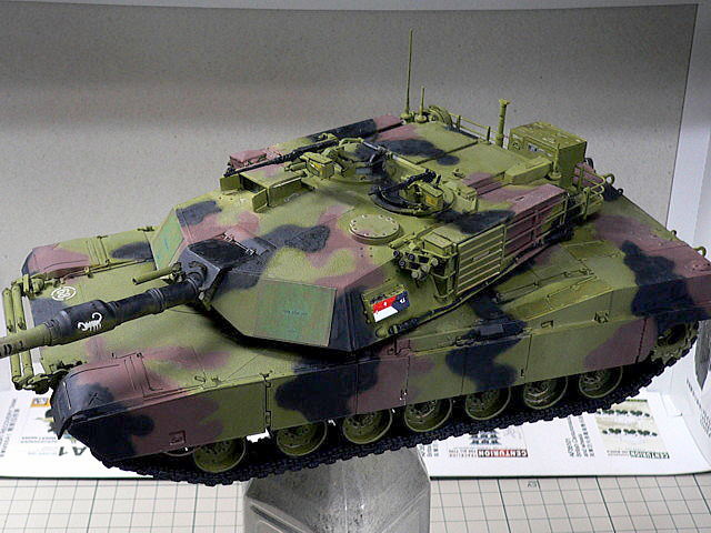 M1A1エイブラムス AIM ドラゴン 迷彩塗装