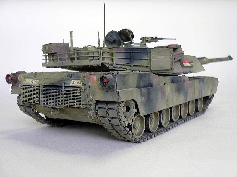 M1A1エイブラムス AIM ドラゴン 完成写真 後方