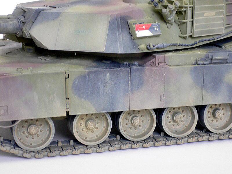 M1A1エイブラムス AIM ドラゴン 完成写真 側面