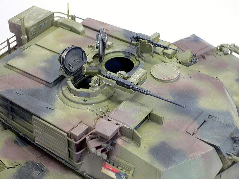 M1A1エイブラムス AIM ドラゴン 完成写真 12.7mm機関銃 エイブラムス砲塔