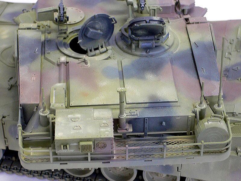 M1A1エイブラムス AIM ドラゴン 完成写真 背面