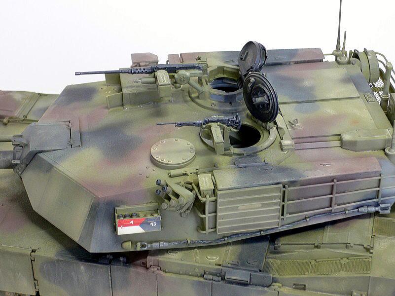 M1A1エイブラムス AIM ドラゴン 完成写真 砲塔