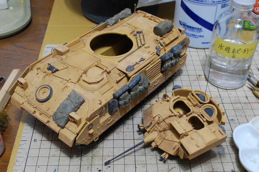 M2A2ODS ブラッドレー タミヤ 1/35 アルコール落とし