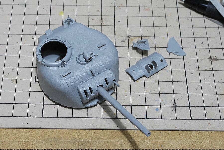 M4A2シャーマン戦車 ドラゴン 1/35 砲塔の組み立て